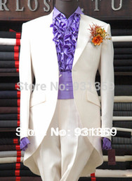 Wholesale Men S Dress Pant 42 - Wholesale-Groom Tuxedos Best Man Peak Lapel Bridegroom Wedding Suits(Jacket+Pants+Tie+Vest) TX153 new style wedding dress suits for men
