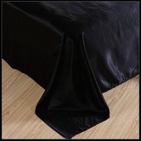 Wholesale Duvet Sets Silk - Luxury black silk satin bedding sets king size queen full twin duvet cover bedspread bed in a bag sheets bedroom quilt bedsheets