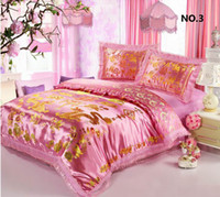 Wholesale Dragon Bedding Sets - Free Shipping,Wedding Bedding, Marry Red Silk, Chinese Dragon,Traditional Embroidered Pattern Duvet Cover,silk bed set