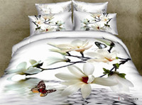Wholesale Oil Painting Duvet Cover Flowers - 3D Red Rose bedding set Queen size 4pcs unique oil painting flower Duvet Cmforter cover bed sheet bedclothes cotton home textile