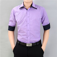 Wholesale Double Collar Shirt Men - Wholesale-6XL Shirt For Men Fashion Long-sleeved Shirt Men Business Casual Shirts Camisa Social Masculina Men Printing Double Collar Shirt