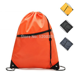 Wholesale String Gym Bags - Wholesale-Free shipping Nylon Waterproof New Drawstring Storage Bag Travel Hiking Sport Gym Swim Dance Shoes women Men's Backpacks