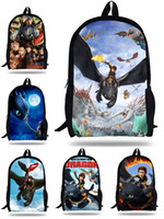 Wholesale Dragon Gift Bags - Wholesale-16inch Mochila dragon Bag kids How to Train Your Dragon Backpack children school bags for boys and girls Cartoon bags gift