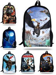 mochilas para crianças cartoons atacado Desconto Atacado-16inch dragon Bag kids Como Treinar o Seu Dragão Mochila crianças mochilas escolares para meninos e meninas dos desenhos animados sacos de presente