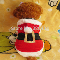 Wholesale Oz Costumes - Wholesale-Pet Dog Christmas Clothes Santa Claus Costume Outwear Coat Apparel Hoodie OZ