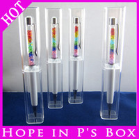 Wholesale Gift Pen Crystals - Wholesale-10pcs Lot FREE SHIPPING Luxury pen case for crystal pen, gift box can for promotional crystal pen gift case pen box