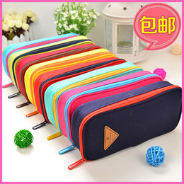 Wholesale Korean Boy Stationery - Wholesale-Free shipping Korean stationery creative stationery cute multifunctional super large capacity pencil case for boy girls