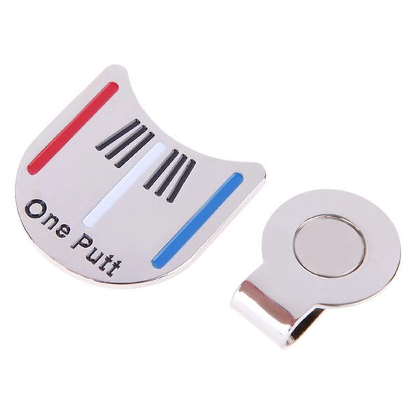 Al por mayor-Venta caliente de la aleación de la pelota de golf Marcador magnético golf Hat Clip Alineación herramienta de envío gratis