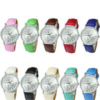 Wholesale Cheapest Casual Watch - 13 Color PU Leather Who Cares I am Late Anyway Letter Watches Women Reloj clock relojes mujer Cheapest watch