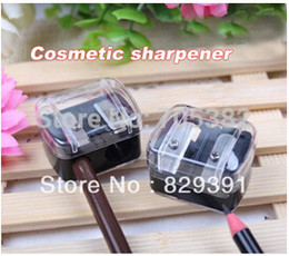 Wholesale-Double holes cosmetic sharpener, black color Sharpener for cosmetic brush eyeliner pencil makeup pencil (SS-1843)