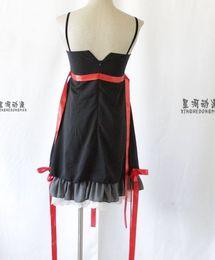 Wholesale Guilty Crown Anime - New Free Shipping Anime Guilty Crown Cosplay Yuzuriha Inori Costume Black Dress