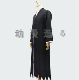 Wholesale Ichigo Kurosaki Bankai Costume - New Free Shipping BLEACH Die pa Kurosaki Ichigo Cosplay Costume Uniform Cloak bankai Robe