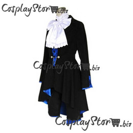 Wholesale Ciel Phantomhive Blue Cosplay - Ciel Phantomhive Cosplay Costume Black & Blue Kuroshitsuji Cosplay Costume