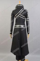 Wholesale Art Online Games - Sword Art Online SAO Kazuto Kirigaya Kirito Black Jacket Pant For Men Anime Halloween Cosplay Costume
