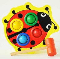 Gros-enfants frapper 1 - 3 ans animaux éducation Beetle Pound and Roll Play Station Toy Noise Maker