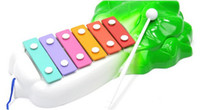 Wholesale Cheap Kids Toy Piano - Wholesale-Cheap Fashion New Arrive Cabbage Shape 6 Tones Hand Knock Baby Kid Piano Music Toy Stick Tied With Rope Free Shipping GGHHWJ023