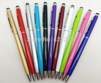 Wholesale Stylus Pen Cheap - Wholesale-Good Quality Cheap Slim Thin Hotel Custom Metal Slim Stylus pen with personalize laser engrave name logo