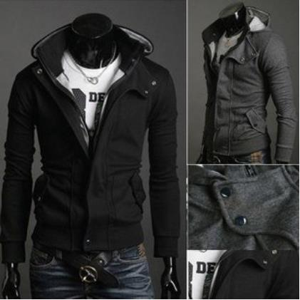 Atacado-New Coats Men Outwear Mens Special Hoodie Jacket Brasão Men Clothes Cardigan Estilo Jacket Frete Grátis 3 Cores Tamanho M-XXXL HS781