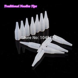 Wholesale Tattoo Traditional - Wholesale-200pcs Plastic Tips For Traditional Tattoo Needles -Permanent Eyebrow and Lip Makeup Needle Caps Free Shipping