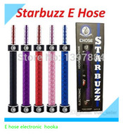 Others pink,black,blue etc. Plastic Wholesale-New Starbuzz E Hose Electronic Hookah pen huge vapor e hose smoking hooka pen cartridge ecig kit hookah pen starbuzz hookahs