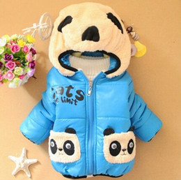 Wholesale Baby Panda Jacket - Wholesale-Cheap china clothes,New 2015 winter baby boy and girl cotton jacket, toddler kids cartoon panda warm coats For 0-3 year old