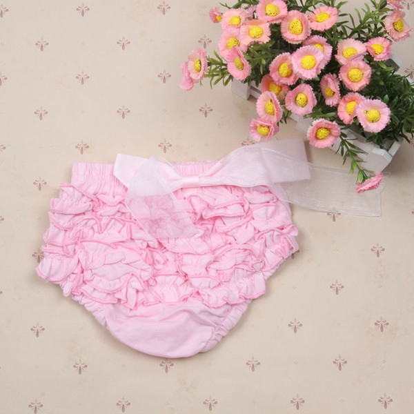 Wholesale-Princess Baby Girls Cute Bloomers Ruffle PP Pants Shorts Bow Diaper Nappy Cover Quality