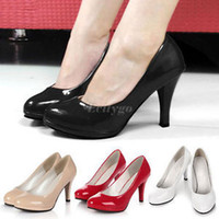 Vente en gros-New Hot Fashion Femmes Ladies Stiletto High Heels Office Robe Work Court Platform Pompes