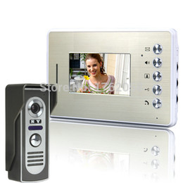 Wholesale Wired Video Intercom Doorbell Systems - Wholesale-Brand New 4.3 Inch Wired Doorbell Door Phone Intercom System Peephole Viewer Phone Night Vision Video Door Phone Free Shipping