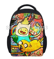 adventure time jake bag al por mayor-Mochilas para niños de Mochila Infantil, Cute Finn y Jake Bagpack Toddle Baby Bag