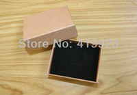 Wholesale Seven Ring Necklace - Wholesale-[Simple Seven] Free Shipping High Quality Muji Necklace Jewelry Box  Lovers Ring Box   Gift Package  Kraft paper Box (Middle)