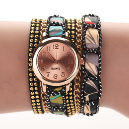 Wholesale Dress 77 - Wholesale-77 Fashion New Arrive Casual Fashion PU Leather Bracelet Watch Wristwatch Women Dress Watches Gift Quartz Women Watch XR1079
