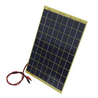 Wholesale Rv Solar Panel Kits - Wholesale-Hot* 20w 2*10W Watts 10 Watt Poly Solar Panel Off Grid 12V RV Boat Marine Car Solar Kits