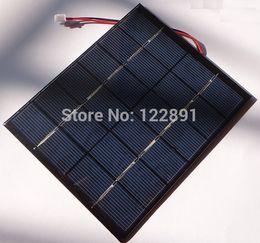 Wholesale Solar Cells 2w - Wholesale-Hot Sale! 2W 6V Mini Solar Cell Polycrystalline Solar Panel+Cable Solar Module Diy System 110*136*3MM 2pcs lot Free Shipping