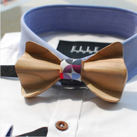 All'ingrosso-Original Design Comics americani bow tie abito sposo arco smoking cocktail party nastro di seta legare creativo 02902 papillon legno