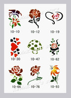 Wholesale Reuseable Airbrush Stencils - Wholesale-Temporary Airbrush Tattoo Stencils book Template - Booklet 10 - 100 designs - Reuseable - free shipping