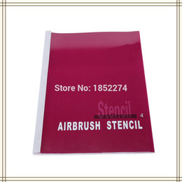 wholesale book 4 temporary airbrush tattoo stencil 160 small designs english letter body beauty