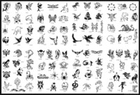 Wholesale Hot Tattoo Book Pictures - Wholesale-2015 low price new fashion Hot unit9 golden phoenix temporary AIRBRUSH TATTOO STENCIL BOOK 100 pictures