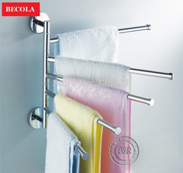 Wholesale Bathroom Electric Towel Warmer - Wholesale-Free shipping bathroom towel rack fasion stainless steel falding movable bath towel bar towel warmer electric RB-88004