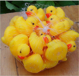 Wholesale Rubber Toys For Children - Wholesale-wholesale 2015 hot selling mini Rubber bath duck for children toys free shipping