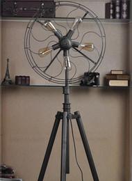 style floor lamp fan light nordic brief lamp vintage edison bulb lamp antique retro lighting fixture