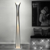Gros-Modern Brief bon marché en aluminium Rouleau stand Restaurant And Chambre Lamp Black White Floor Lamp E27 Nouveaux Lamp