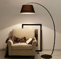 Wholesale Arc Floor Lamps American Country Style New Standing Lamp Living Room Black Free Shipping
