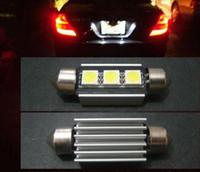 Wholesale car festoon bulb resale online - DC12v mm with hot sink SMD Car Auto Light Bulbs LED License Plate LED Festoon Canbus