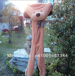 Wholesale Valentine Teddy Bear Low Price - Wholesale- Wholesale 180cm teddy bear plush toys high quality and low price skin holiday gift birthday gift valentine gift free shipping