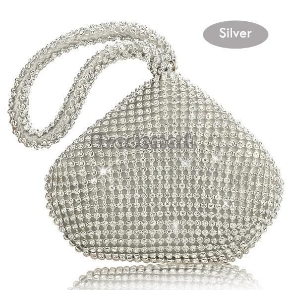 Großhandels-Strass-Frauen-Handtaschen Diamanten Fingerring Damen vintage Abendtaschen Kristall Hochzeit Brauthandtaschen Geldbeutel Taschen 35
