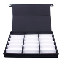 Wholesale Eyewear Tray - Wholesale-18 PCS Eyewear Sunglasses Jewelry Watches Display Storage Case Tray #56337