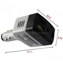 преобразователь 24v ac 12v dc Скидка Высокое качество автомобиля мобильный конвертер инвертор адаптер DC 12 В / 24 В переменного тока 220 В зарядное устройство Power + USB Drop Shipping
