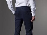 özel elbiseler satın al toptan satış-Toptan-Yüksek Kalite Erkekler Elbise Pantolon Kraliyet Mavi Smokin Erkek Takım Elbise Düğün Damat 2015 Groomsmen Giyim Çin Özel Boyutundan Satın Alın