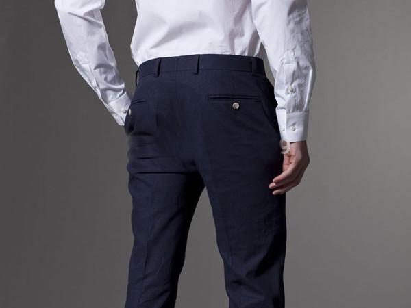 Wholesale-High Quality Men's Dress Pants Royal Blue Tuxedo Mens Suits Wedding Groom 2015 Groomsmen Clothing Buy From China Custom Size
