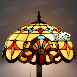 Wholesale Living Room Baroque Style - Wholesale-Baroque Tiffany living room lamp floor lamp vertical study European style lamp color glass lamp